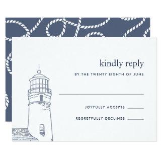 Beacon | Nautical Lighthouse RSVP Card