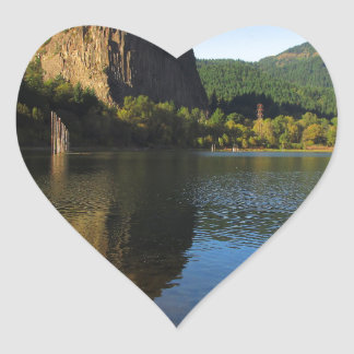 Beacon Rock State Park, Columbia River Gorge. Heart Sticker