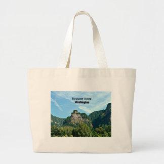 Beacon Rock, Washington Jumbo Tote Bag