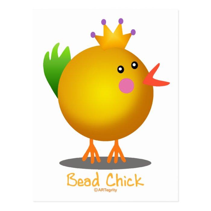 Bead Chick - Gold Postcard