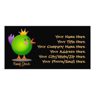 Bead Chick - Green Photo Greeting Card