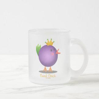 Bead Chick - Purple Frosted Glass Coffee Mug