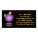 Bead Chick - Purple Picture Card