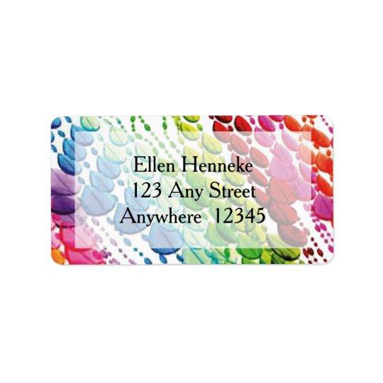Bead Curtain Address Label