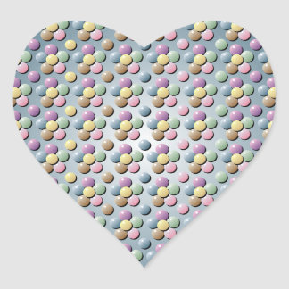 Bead Flowers Heart Sticker