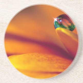 Bead Of Water On A Flower Drink Coaster