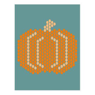 Bead Pattern Pumpkin Postcard