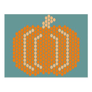Bead Pattern Pumpkin Post Cards