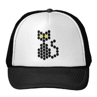 Bead Patterned Black Cat Hats