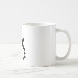 Bead Patterned Black Cat Mug