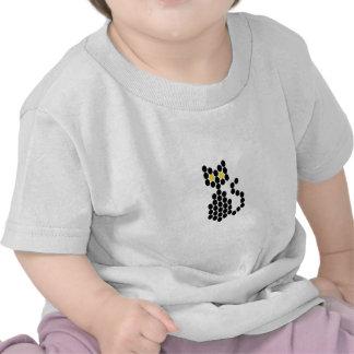 Bead Patterned Black Cat Tshirt