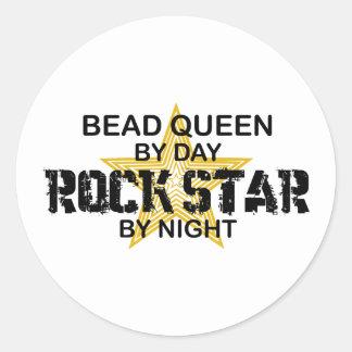 Bead Queen Rock Star by Night Round Sticker