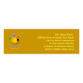 Bead Shark - Gold Double-Sided Mini Business Cards (Pack Of 20)
