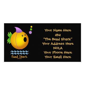 Bead Shark - Gold Customized Photo Card