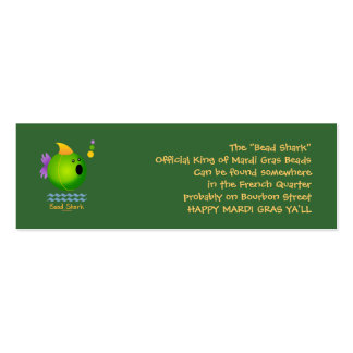 Bead Shark - Green Double-Sided Mini Business Cards (Pack Of 20)