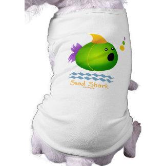 Bead Shark - Green Doggie T Shirt