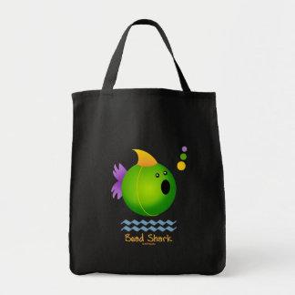 Bead Shark - Green Grocery Tote Bag