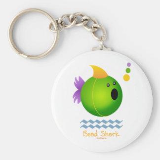 Bead Shark - Green Keychain