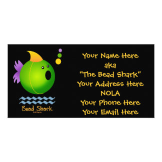 Bead Shark - Green Picture Card