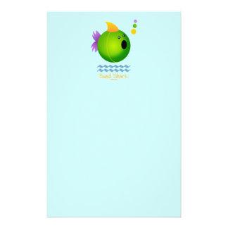 Bead Shark - Green Stationery