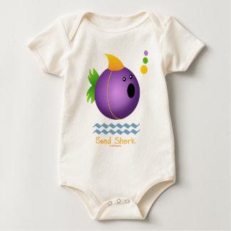 Bead Shark - Purple Baby Bodysuit