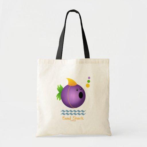 Bead Shark - Purple Tote Bags