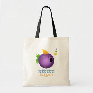 Bead Shark - Purple Budget Tote Bag
