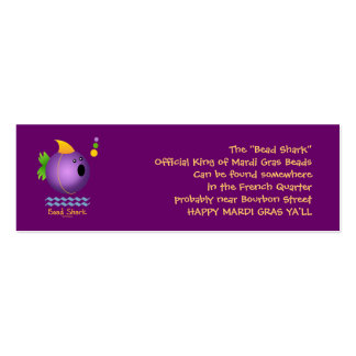 Bead Shark - Purple Double-Sided Mini Business Cards (Pack Of 20)