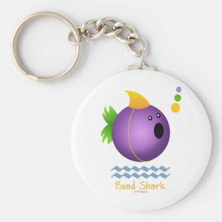 Bead Shark - Purple Key Chain
