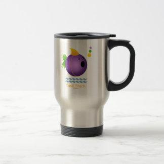 Bead Shark - Purple 15 Oz Stainless Steel Travel Mug