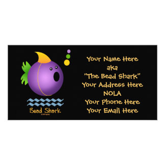 Bead Shark - Purple Customized Photo Card