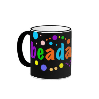 Beadaholic - Display your Beading Addiction Ringer Mug