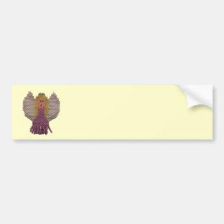 Beaded Angel Motif Bumper Sticker
