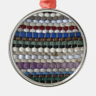 Beaded fabric pattern Silver-Colored round decoration