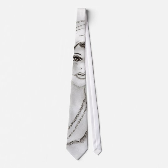 Beaded Flapper Girl Tie