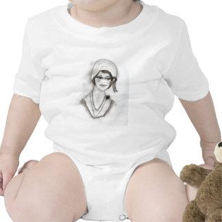 Beaded flapper girl tshirt