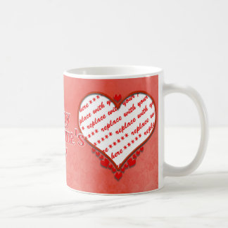Beaded Heart Photo Frame Basic White Mug