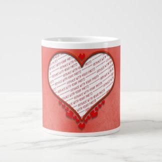 Beaded Heart Photo Frame Extra Large Mug