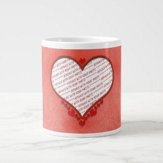 Beaded Heart Shaped Photo Frame Extra Large Mugs