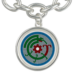 Beaded Hummingbird Charm Bracelet