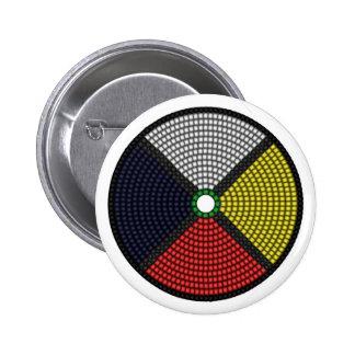 Beaded Medicine Wheel 6 Cm Round Badge