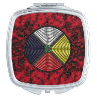 Beaded Medicine Wheel Compact Mirrors