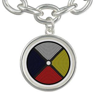 Beaded Medicine Wheel Charm Bracelet