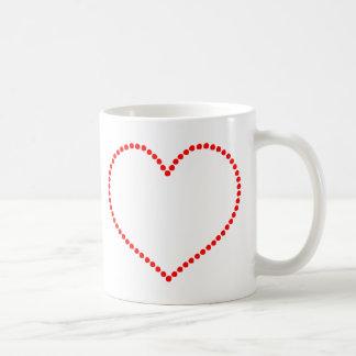 Beaded Red Heart Coffee Mug
