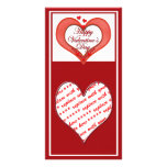 Beaded Red Heart Valentine Photo Card Template