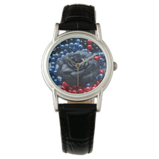 Beaded rose composition watch