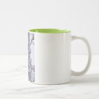 Beaded Snow Two-Tone Mug