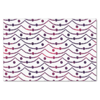 Beaded Swags burgundy & purple hearts Tissue Paper