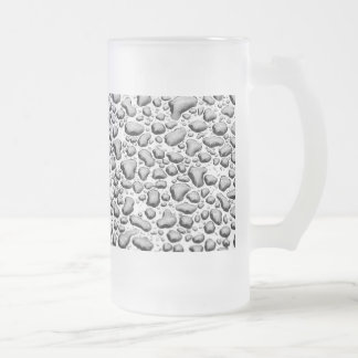 Beaded Water on Surface Frosted Glass Mug