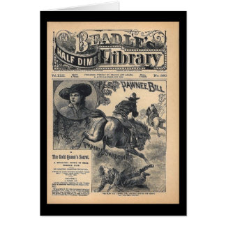 Beadles Half Dime Library Vol XXII No 560 1888 Greeting Card